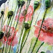 """Картины и панно ручной работы. Ярмарка Мастеров - ручная работа """"Через горы к морю"""" панно гипсовое. Handmade."""