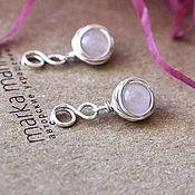 Украшения handmade. Livemaster - original item Rose Story rose quartz earrings. Handmade.