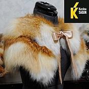 Аксессуары ручной работы. Ярмарка Мастеров - ручная работа Пелерина меховая из лисы. Handmade.