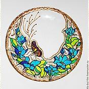 """Посуда ручной работы. Ярмарка Мастеров - ручная работа Тарелочка № 5 """"Летний сад"""". Handmade."""