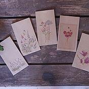 "Пакеты ручной работы. Ярмарка Мастеров - ручная работа Крафт пакеты ""Разнотравье"". Handmade."
