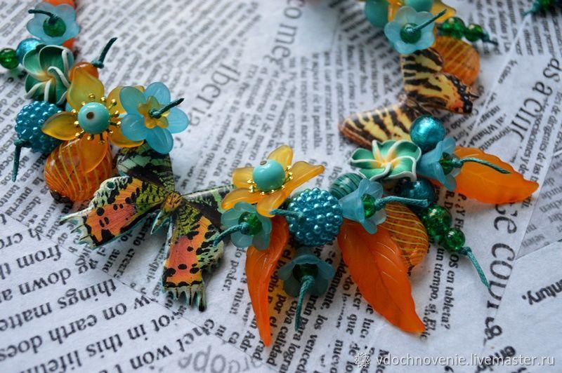 Set of jewelry for girls 'Tropical beauties', Jewelry Sets, Kolomna,  Фото №1