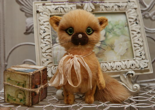 """Мишки Тедди ручной работы. Ярмарка Мастеров - ручная работа. Купить Котеночек тедди """"Боня"""". Handmade. Рыжий, котенок игрушка"""