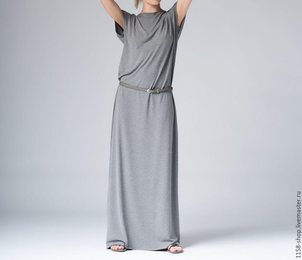 Длинное трикотажное платье-трансформер оверсайз №2 – купить в ... 04bb264ea26