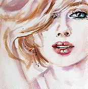 Картины и панно handmade. Livemaster - original item Watercolor She. Handmade.