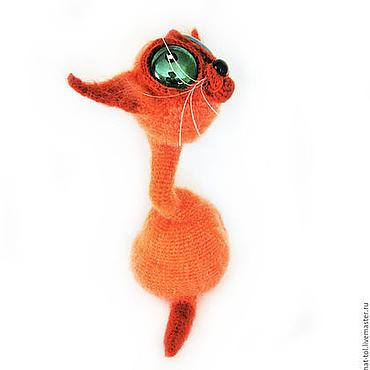 Куклы и игрушки ручной работы. Ярмарка Мастеров - ручная работа Вязаная игрушка крючком кот очаровательный Рыжий Украшение интерьера. Handmade.