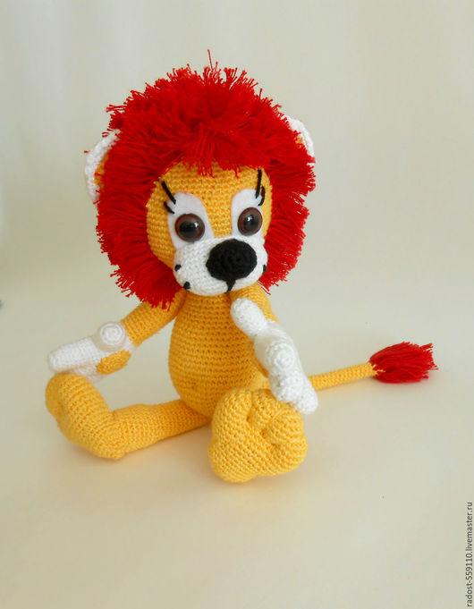 Игрушки животные, ручной работы. Ярмарка Мастеров - ручная работа. Купить Лёвка вязаный лев. Handmade. Желтый, желтый лев