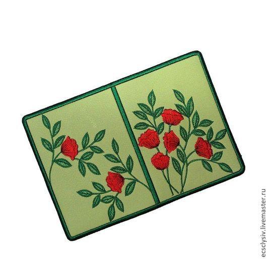 """Обложки ручной работы. Ярмарка Мастеров - ручная работа. Купить Обложка для паспорта """" Маки,маки,красные маки """". Handmade."""