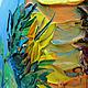 Пейзаж ручной работы. Заказать Картина маслом Солнце в лепестках. Ксения Дубинина (Жукова). Ярмарка Мастеров. Голубой, болотный, лето