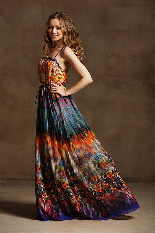 """Платья ручной работы. Ярмарка Мастеров - ручная работа. Купить Платье""""Лето"""". Handmade. Платье в пол, длинный сарафан, длинное платье"""