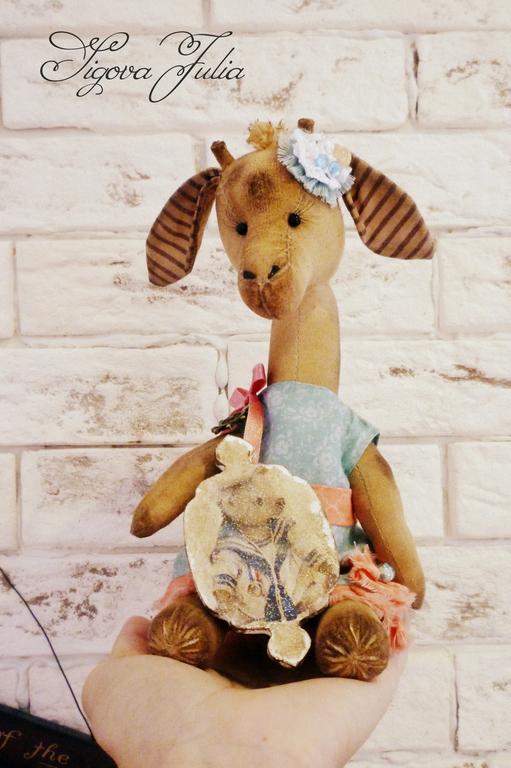"""Игрушки животные, ручной работы. Ярмарка Мастеров - ручная работа. Купить Жираф девочка """"Жду своего морячка..."""" Друзья тедди. Handmade."""
