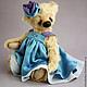 Мишка Тедди Виолетта. Авторский коллекционный мишка Тедди.