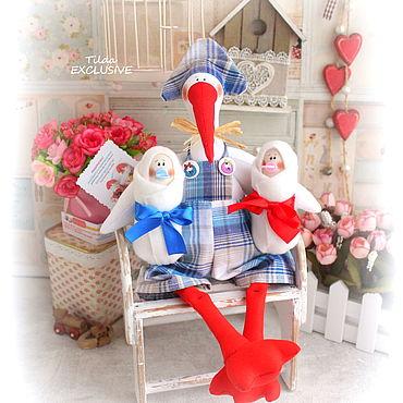 Куклы и игрушки ручной работы. Ярмарка Мастеров - ручная работа Аист с двойняшками. Handmade.