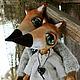 """Игрушки животные, ручной работы. Ярмарка Мастеров - ручная работа. Купить Пара лисичек """"Черничный лес"""". Handmade. Рыжий, амулет"""