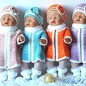 Куклы и игрушки ручной работы. Ярмарка Мастеров - ручная работа Зимний комплект для куклы. Handmade.