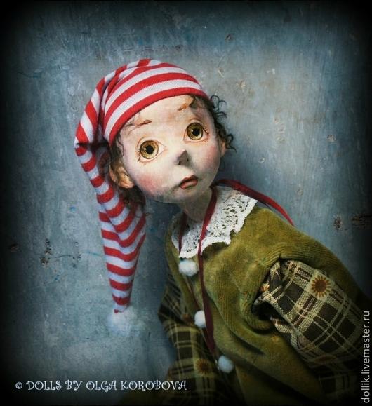 Коллекционные куклы ручной работы. Ярмарка Мастеров - ручная работа. Купить Буратино. Handmade. Разноцветный, авторская ручная работа