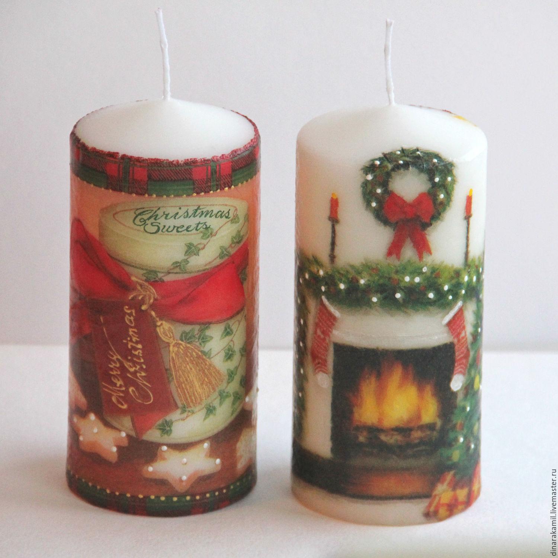 Материалы для декупажа свечи