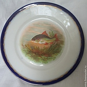 Винтаж handmade. Livemaster - original item Plate from the service, porcelain, vintage, Austria PSL. Handmade.