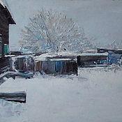 Картины и панно ручной работы. Ярмарка Мастеров - ручная работа Зимний двор. Handmade.
