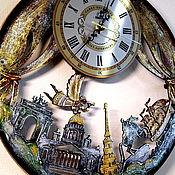 Русский стиль handmade. Livemaster - original item St. Petersburg secrets wall clock from Russia. Handmade.