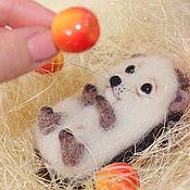 Куклы и игрушки handmade. Livemaster - original item hedgehog-baby with an Apple.. Handmade.