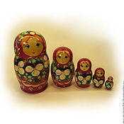 Русский стиль handmade. Livemaster - original item Matryoshka 5 local Floral small 11. Handmade.