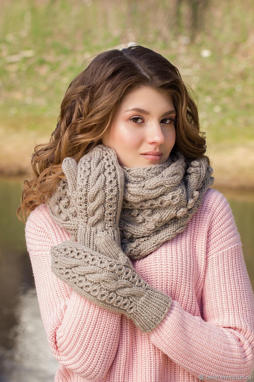 ваш вяжем шарф снуд с косами фото мк южном урале
