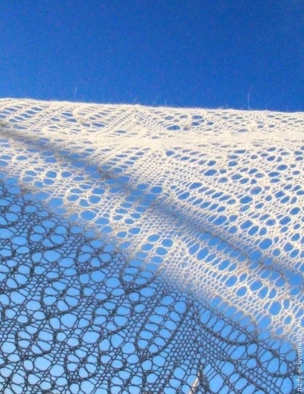 downy shawl, knitted shawl, Orenburg shawl