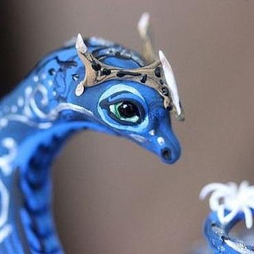 """Куклы и игрушки ручной работы. Ярмарка Мастеров - ручная работа Фигурка """"Змея в стиле Аватара"""" (змея игрушка, змея символ года). Handmade."""