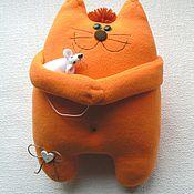 Куклы и игрушки ручной работы. Ярмарка Мастеров - ручная работа Кот и Мышь. Handmade.