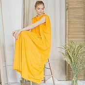 Одежда ручной работы. Ярмарка Мастеров - ручная работа свободное Жёлтое платье. Handmade.