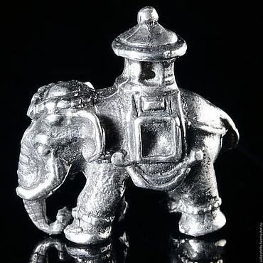 """Фигурка:  """"Индийский слон"""". Серебро."""