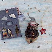 Куклы и игрушки ручной работы. Ярмарка Мастеров - ручная работа Большой гном в серой курточке. Handmade.
