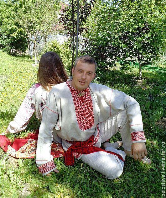 Для мужчин, ручной работы. Ярмарка Мастеров - ручная работа. Купить Рубаха в русском стиле. Handmade. Рубаха мужская