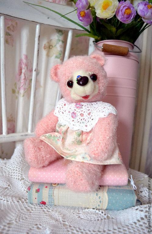 Мишки Тедди ручной работы. Ярмарка Мастеров - ручная работа. Купить Розовая мишка Розочка. Handmade. Бледно-розовый, пушистый