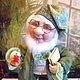 Человечки ручной работы. Ярмарка Мастеров - ручная работа. Купить Хранитель  СНОВ - текстильная кукла. Handmade. Зеленый, кукла интерьерная