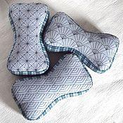 Для дома и интерьера ручной работы. Ярмарка Мастеров - ручная работа Подушки косточки с вышивкой. Handmade.