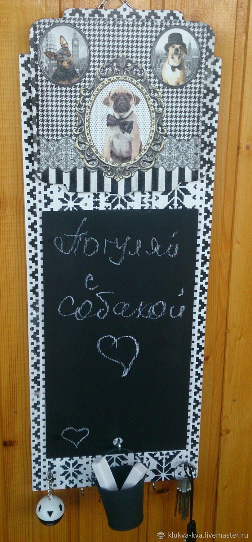 Chalk Board - hanger - key holder, Hanger, Moscow,  Фото №1