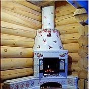 """Камины ручной работы. Ярмарка Мастеров - ручная работа Изразцовый камин """"Снегири"""". Handmade."""