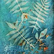 Шарфы ручной работы. Ярмарка Мастеров - ручная работа Нежный шарфик из натурального шелка, бирюзовый/зеленый. Handmade.