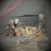 """Куклы и игрушки ручной работы. Ярмарка Мастеров - ручная работа """"Найденыши"""" набор мишек-висюлек. Елочные игрушки.. Handmade."""