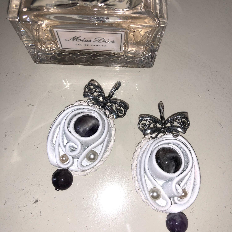 Mirabella earrings (Leather), Earrings, Kaluga,  Фото №1