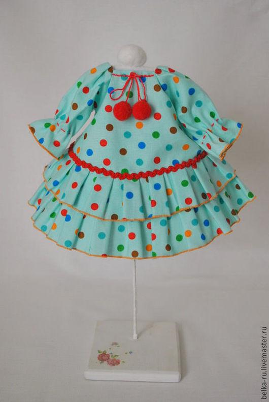 Одежда для кукол ручной работы. Ярмарка Мастеров - ручная работа. Купить Платье для куклы. Handmade. Комбинированный, одежда для кукол, гардероб