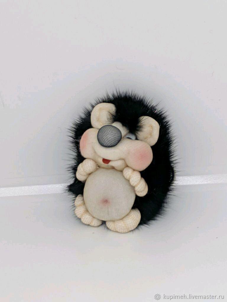 Hedgehog-souvenir, keychain made of mink fur, Christmas gifts, Nalchik,  Фото №1