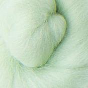 Материалы для творчества ручной работы. Ярмарка Мастеров - ручная работа Меринос 16 мк окрашенный - цвет Ландыш. Handmade.