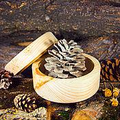 Материалы для творчества handmade. Livemaster - original item A Cup a blank for Decoupage A box for Painting Siberian Cedar DK5. Handmade.