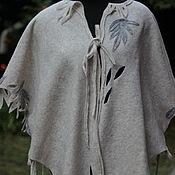 Одежда ручной работы. Ярмарка Мастеров - ручная работа Кардиган из валяной шерсти.Одежда большого размера.Женская одежда... Handmade.