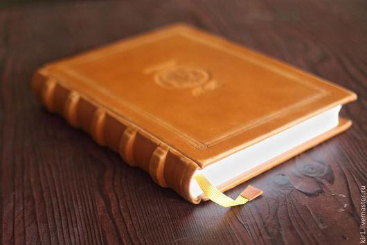 """Ежедневники ручной работы. Ярмарка Мастеров - ручная работа. Купить Книга записная """"Посейдон"""". Handmade. Рыжий, книга для записей, тиснение"""