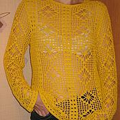 Одежда ручной работы. Ярмарка Мастеров - ручная работа Туника в желтом цвете. Handmade.