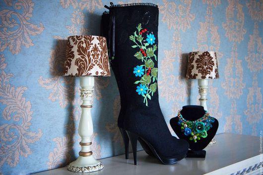 """Обувь ручной работы. Ярмарка Мастеров - ручная работа. Купить Валенки """"Павловопосадские Цветы"""". Handmade. Сапоги женские, авторские валенки"""